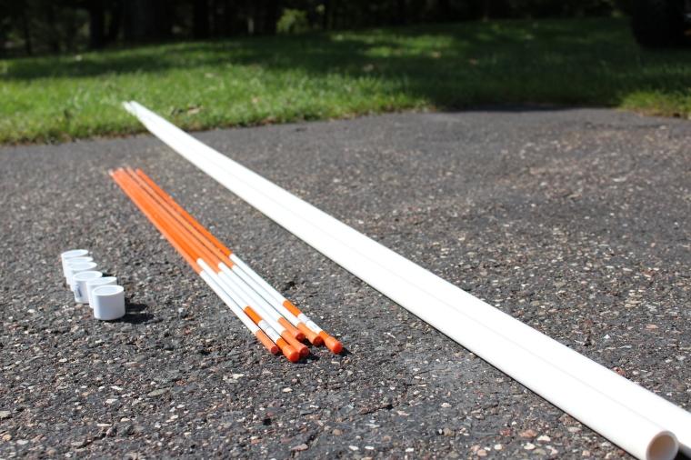DIY Weave pole equipment.