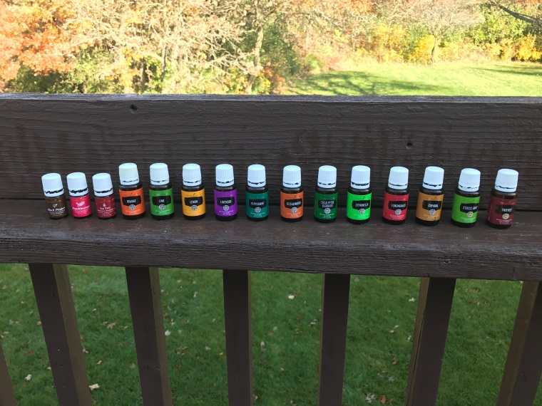 A collection of Young Living Essential Oils used to build healthy dogs and healthy families.