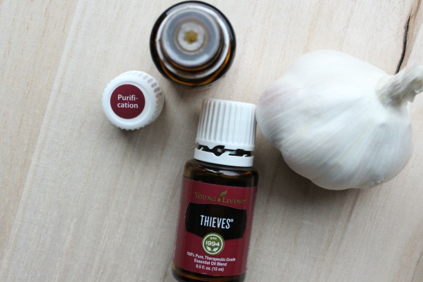 Purification, Thieves, and Garlic can be used to prevent and treat tick bites.
